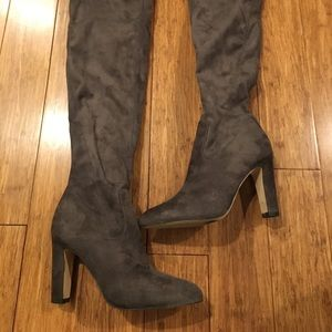 Ivanka Trump over the knee grey boots